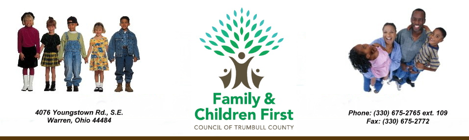 Heading for Trumbull County Family & Children First.